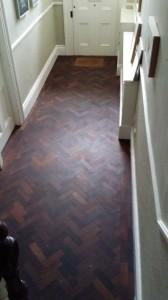 Reclaimed Panga Panga parquet floor.