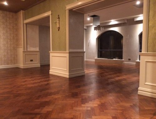Reclaimed Parquet Mahogany Stained & Oiled